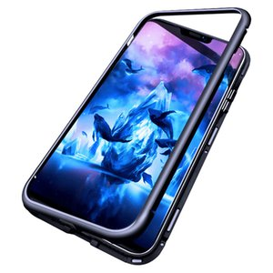 Magnetic Adsorption 360 Metal Phone Case for Samsung Galaxy S20 PLUS S20 Ultra Full Coverage Frame Tempered Glass 100pc