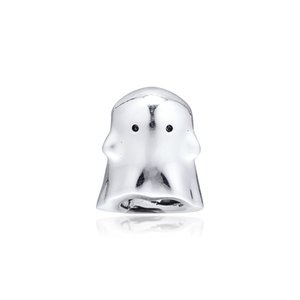 Autumn Boo the Ghost Charm 925 Sterling Silver beads Fit Pandora Style Charms Bracelets Pendant Necklace Diy for Women Jewelry11