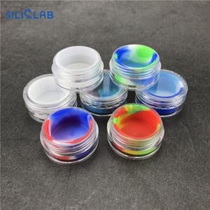 5 ml en plastique ABS Shell avec des récipients de cire Dab d'insertion de silicone de qualité alimentaire concentrent des pots acryliques de butane pour des plates-formes sèches de tabagisme fumant