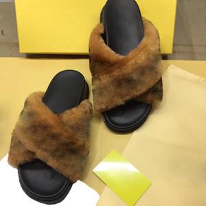 RASS PLE 2019 Pantofole da slitta in vera pelliccia di volpe Scarpe da slitta morbide Fuffly Pantofole Infradito Sandali Slider Drag Sandalo Scarpe estive Donna US4-11