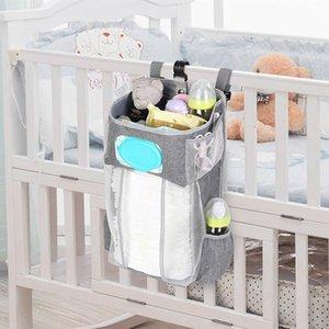 Portable Baby Bedding Cloth Storage Rack Cradle Newborn Crib Bed Hanging Bag Inafnt Bedside Nappy Diaper Partition Organizer Bag1uUv#