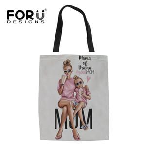 Forudesigns yeni varış 2019 moda kadınlar kız tuval keten bez çantalar casual süper anne bayanlar marka tasarım çanta katlanır çanta