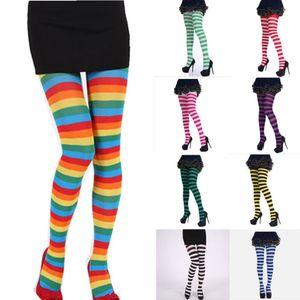 Sexy Leichtfüßig Strumpfhosen Strumpfstrumpfhose Streifen Strumpfwaren Socken Hallo Halloween-Schenkel