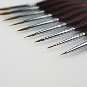 Brand New Pennello professionale Sable capelli Particolare miniatura spazzola di arte della penna della pittura