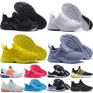 nike air presto 2018 PRESTO BR QS Breathe Giallo Nero Bianco Rosso Blu Uomo Donna Scarpe da Corsa Presto Ultra Hiking Jogging Walking Sport Sneakers Eur 36-45