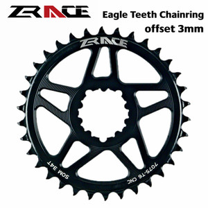 Zrace 10s 11s 12s Chainring, Eagle Teeth 7075al Cnc, Offset 3mm, Mtb Chainwheel, for Sram Direct Mount Crank, Compatible Eagle