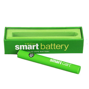 SmartCart 510 cartridge Battery Green Smart Carts 380mAh Preheat VV Variable Voltage Bottom USB Charger Charging Battery For 510 cartridge