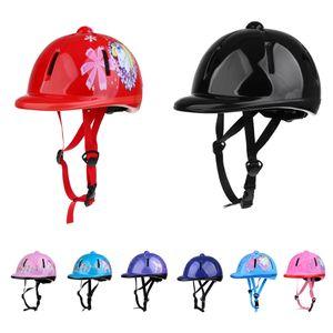 Chapéu de Protecção das crianças das crianças ajustável Equitação Hat / Cabeça do capacete de protecção engrenagem da segurança Sports Equestre Unisex Chefe Guarda