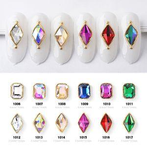 5PCS 매력 합금 평면 다시 3 차원 네일 아트 라인 석 장식 빛나는 크리스탈 보석 다이아몬드 디자인 변종 유리 매니큐어 액세서리