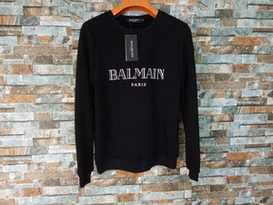 Balmain Felpe Mens Stylist cappuccio via di Hip Hop di alta qualità Loose Fit Mens Womens Hoodie Stylist maglioni S-XL