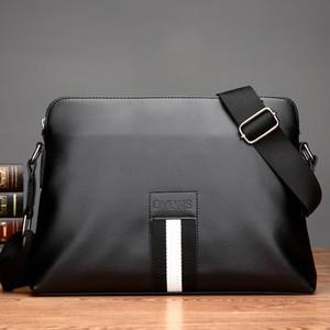 Fashion2019 Véritable homme unique épaule Baotou couche Affaires commerciales Temps libre en cuir souple Sac à dos Homme Paquet Oblique