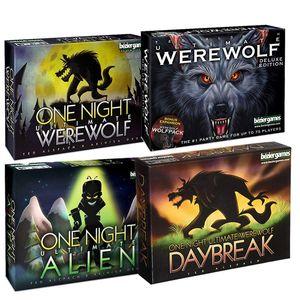One Night Ultimate Werewolf Alien Jeux de société Famille Jouet éducatif interactif Version anglaise Jeu de cartes