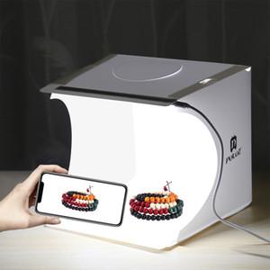 Mini Fotoğraf Stüdyosu Kutusu LED Işık Odası Fotoğraf Arka Aydınlatma Çekim Çadırı Zemin Küp Kutusu Fotoğraf Stüdyosu ücretsiz kargo