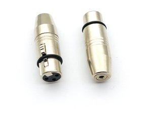 1PCS 3 핀 XLR 오디오 여성 커넥터에 3.5mm의 스테레오 소켓 어댑터