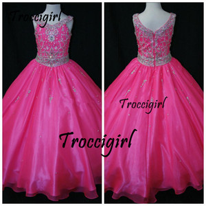 Одно плечо линия театрализованное платье для девочек длиной до пола театрализованное платье для девочек роза красная органза аппликация цветок девочки платье