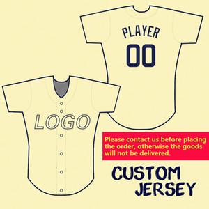 2019 personalizado Baseball Jerseys Homens Mulher Kids Personalização Qualquer nome da equipe Número 100% costura Flex base legal do estilo Base de Dados