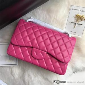 Top nuova esclusiva sacchetto di stile di pecora, dettagli in pelle squisita fattura, borsa in pelle di agnello importata Con la casella size30cm