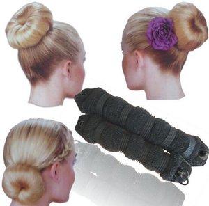 2pcs / set Femmes Mode Outils De Cheveux Hairband Élégant Magique Style Buns Arc Braiders Épingle À Cheveux Chapeaux Cheveux Corde Bande Accessoires SH190727