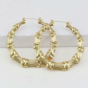 All'ingrosso-grandi orecchini a cerchio 100 millimetri per le donne occidentali di vendita calda semplice huggie orecchino gioielli moda esagerata 2 colori oro in oro rosa