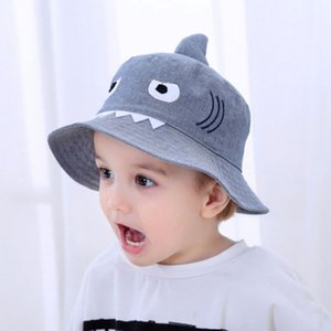 Autumn Baby Boys Girls Hat Toddler Cartoon Bucket Hats Caps Sunhat UV Protection 3-8T 19-24 Months Cotton Unisex Babyage