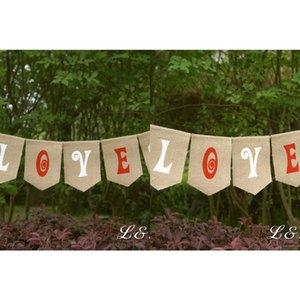 Wholesale- Burlap Love Banner, Rustic Wedding Photo Prop, Engagement Photo Prop, Burlap Love Sign, Wedding Banner