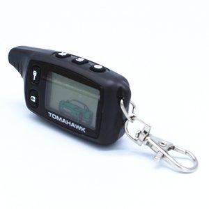 New LCD Remoto Para Tomahawk RU TW9010 Tomahawk 9010 em dois sentidos do sistema de alarme de carro russo TW 9010 chaveiro