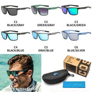 Occhiali da sole del mens 580P Rinconcito UV Protection Costa occhiali da sole polarizzati Surf / pesca bicchieri donne design di lusso occhiali da sole BoxCase