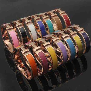 Top Qualitu Acier 316L Titane 12mm H Bracelets Or Rose Argent Or Matériel Bracelet Femmes Et Hommes Célèbre Marque Pulsera Mode Bijoux