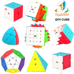 QIYI Speed puzzle Cube 2x2 3x3 4x4 magic cube Carbon Fiber Sticker Magic Cube Puzzle Toy Intelligence Development Kids toys