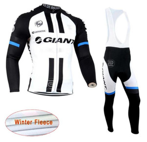 2019 New GIANT team Cycling Winter Thermal Fleece jersey (bib) pants sets men Long Sleeves bike maillot roupa ciclismo zeoutdoo