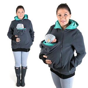 طفل يرتدي سترة الصوف في فصل الشتاء الدافئة الأمومة ملابس النسائية الحوامل الكنغر معطف الطفل الناقل ملابس