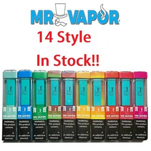 MR VAPOR dispositif à usage unique vide Pod Starter Kit batterie 280mAh 10styles Vape Pen vs bidi eon, plus de snob chic