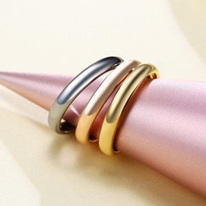 Thin Rings For Women Girl Solid Stainless Steel Minimalist Ring Set Elegant Party Tail Ring Extra Small