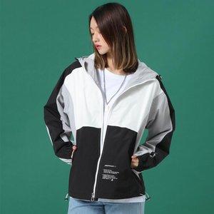jaquetas de grife mens mulheres nova moda menina Mylon fez preto branco azul natural com painéis muitas cores pnemmed macio applique Acetato y-