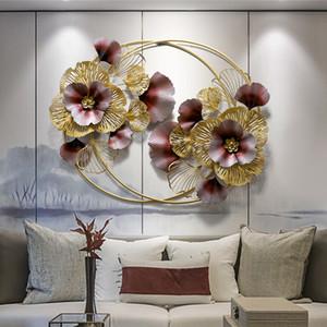 Cinese parete del ferro saldato Hanging Wall Sticker fiore artificiale ornamenti artigianali 3D casa Soggiorno Murales Decoration