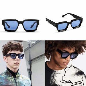 2020 Официальный Последние цвета 96006 Модные солнцезащитные очки Millionaire площади кадра Верхнее качество Continuous ретро Декоративные очки