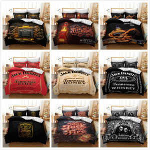 3D Whiskey Printing Bedding Set Soft Comfortable Duvet Cover Pillowcase Set Bed Linens Bedclothes Twin Full Queen King Size