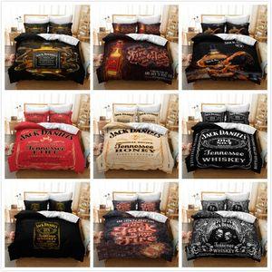 3D whisky impresión del lecho cómodo suave funda nórdica funda de almohada Juego de cama Ropa de cama Ropa de cama tamaño completo Doble Reina Rey