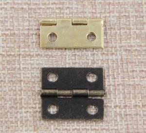 Hot 10 pc / lotto Garden Home 16x13mm bronzo antico / oro Gabinetto Cerniere Mobili Gioielleria scatole di piccole Cerniera Accessori per mobili