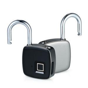 Z1 USB Rechargeable Intelligent Sans Clé D'empreinte Digitale Serrure IP65 Étanche Antivol Sécurité Cadenas Porte-Bagages Serrure