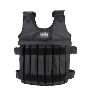 20kg 50kg Adjustable Weighted Vest Loading Weights Waistcoat for Boxing Training Workout Fitness Equipment Sand Clothing T191224