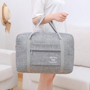 Bagageira impermeável saco de bagagem Organizer Embalagem Ombro Negócios Viagem Bolsa Homens Weekend Bags organizador
