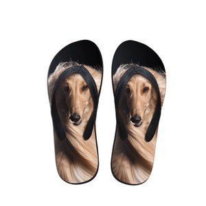 2019 Creative Afghan Hound print Lady New Flip Flops Fashion Casual Summer Beach For Women Girls Slippers Sandals Flats Shoes