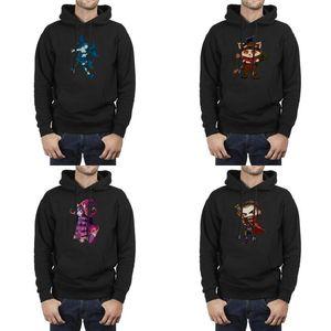 Fashion Men League of Legends blau Maxi-Pullover, Sweatshirt beiläufige kühle Superheld Pullover Zeichnung lol Charakter Fairy Hexe Graves