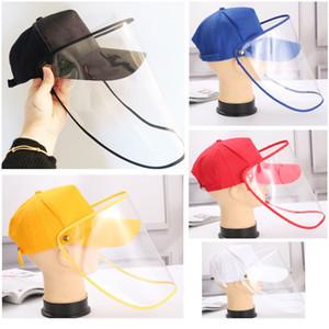 Boné de beisebol proteção para o rosto transparente unisex Hat exterior Máscara Facial Proteção Baseball Hat Anti-fog Cap Windproof HH9-2979