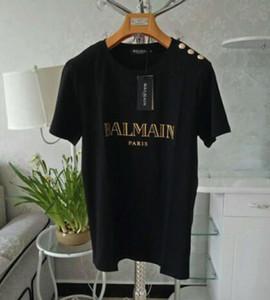 19ss мужская дизайнерская черная футболка Женская повседневная рубашка с коротким рукавом хлопок футболка Письмо печати хип-хоп мужская брендовая одежда