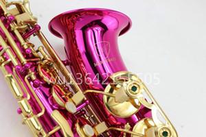 Новый MARGEWATE Альт-Саксофон Eb Tune Красная Поверхность Позолоченный Ключ Латунь Саксофон С Мундштуком Бренда Музыкальный Инструмент