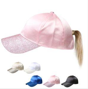 Ball Caps Solid cola de caballo gorra de béisbol del Snapback Plain Mujeres Deportes de verano sombreros de Sun muchacha de la manera con el sombrero trasero de apertura GGA3080