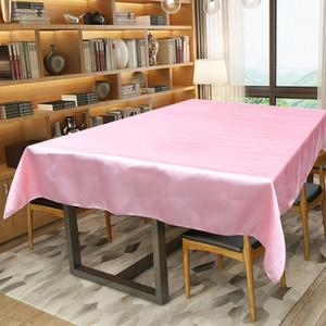 1pcs natal festa em casa de cetim toalha de mesa de mesa cobertura de pano preto Branco para Banquete de Casamento Party Decor 145x304cm