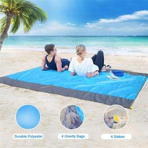 TTLIFE Katlanabilir Açık Piknik Battaniye Halı Sandless Yatak Pedi Kamp Açık Su Geçirmez Cep Yaz